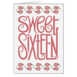 Sweet Sixteen Petals Birthday Card