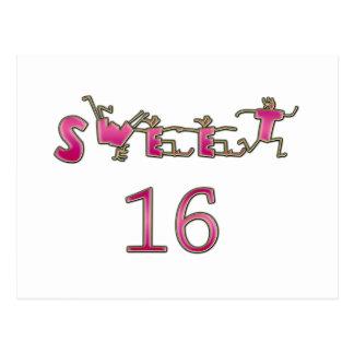 Sweet Sixteen Pink Postcard