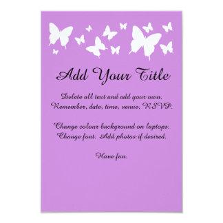 Sweet Sixteen pink, purple Butterfly Invite