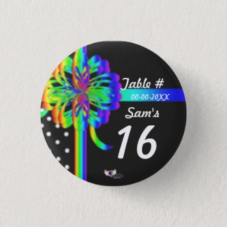 Sweet Sixteen Place Celebration's Button_Cust. 3 Cm Round Badge