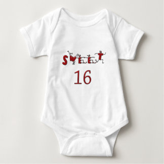 Sweet Sixteen Red Baby Bodysuit