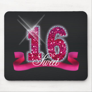 Sweet Sixteen Sparkle Pink ID117 Mouse Pad