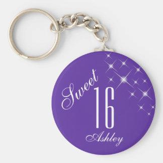 Sweet Sixteen Star Glitter Key Chain