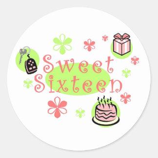 Sweet Sixteen sticker