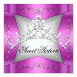 Sweet Sixteen Sweet 16 Pink Silver Tiara
