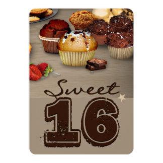 Sweet Sixteenth Birthday 13 Cm X 18 Cm Invitation Card