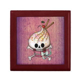 Sweet Skull Cupcake Small Square Gift Box