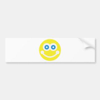 Sweet smiley bumper sticker