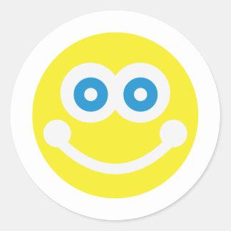 Sweet smiley round sticker