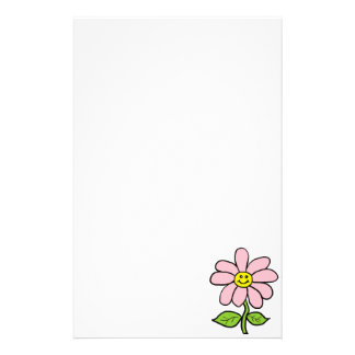Sweet Smiling Daisy Stationery Paper