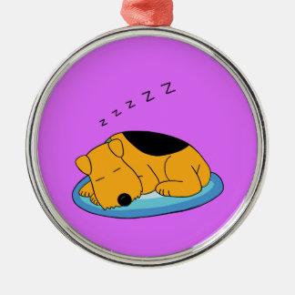 Sweet Snoring Airedale Premium Ornament