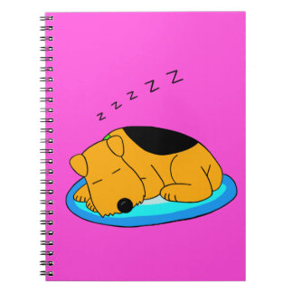 Sweet Snoring Airedale Terrrier Spiral Notebook