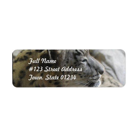 Sweet Snow Leopard Return Address Label