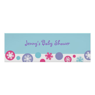 Sweet Snowflake Winter Banner Sign Poster