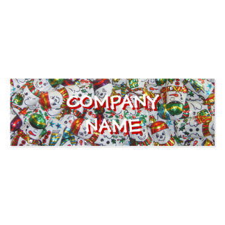 Sweet Snowmen front text red skinny Pack Of Skinny Business Cards