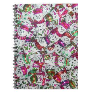 Sweet Snowmen Pink notebook