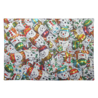 Sweet Snowmen placemat cloth