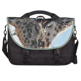 Sweet Snuggling Giraffes Commute Bag Laptop Bags