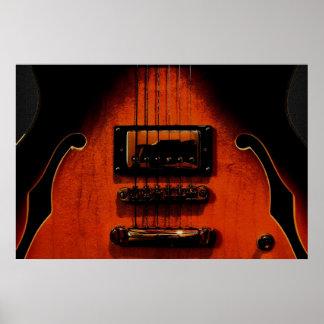 Sweet Soul Blues Guitar 36 x 24 Poster