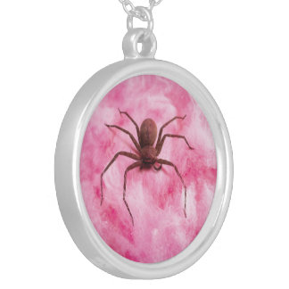 Sweet spider silver plated necklace