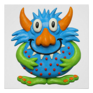 Sweet Spotted Monster Baby Shower Nursery Poster