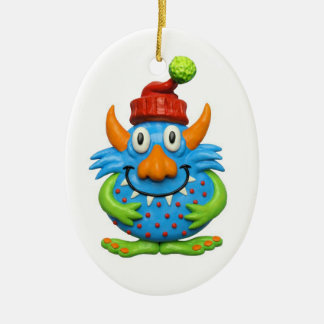 Sweet Spotted Monster ChristmasMonster character m Ceramic Oval Decoration