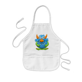 Sweet Spotted Monster Kids Apron