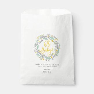 Sweet Sprigs Gender Neutral Baby Favor Bag