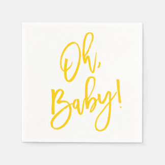 Sweet Sprigs Gender Neutral Baby Shower Napkin Disposable Napkins