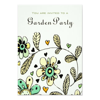 "Sweet Spring Flowers Garden Party Invite 5"" X 7"" Invitation Card"