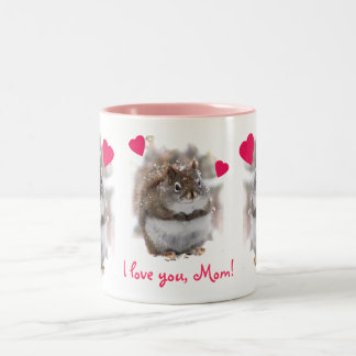 Sweet Squirrel Mothers Day Two-Tone Coffee Mug