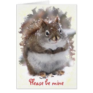 Sweet Squirrel Valentine Card