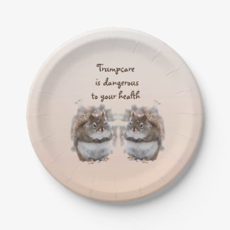 Sweet Squirrels Talk About Trumpcare Paper Plates