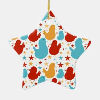 Sweet Star Birds Christmas Ornament