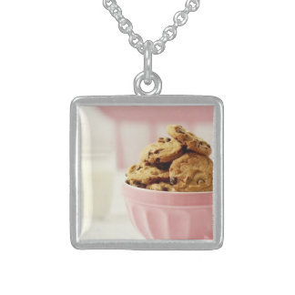 Sweet Sterling Silver Square Necklace