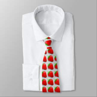 Sweet Strawberries Tie