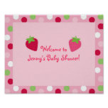 Sweet Strawberry Baby Shower Sign