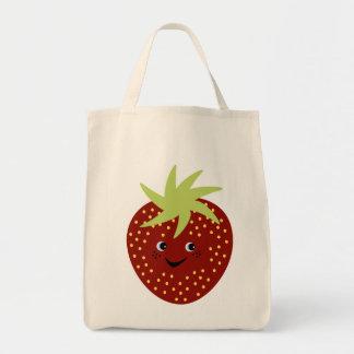 Sweet Strawberry Canvas Bag