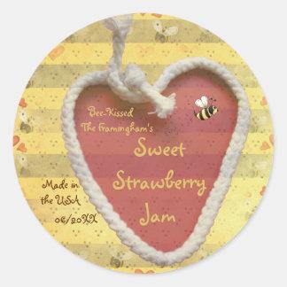 Sweet Strawberry Jam Jar Label (Customize)