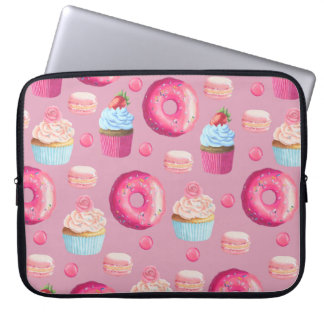 Sweet Strawberry Pink Treats Laptop Sleeve
