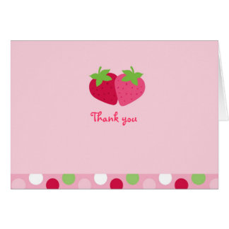 Sweet Strawberry Thank You Note Cards
