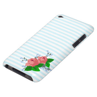 Sweet Stripes and Roses Barely There iPod Cover