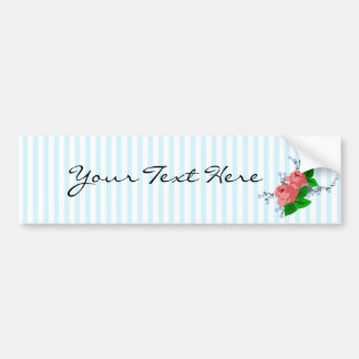 Sweet Stripes and Roses Bumper Sticker