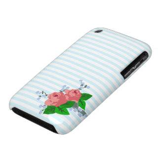Sweet Stripes and Roses iPhone 3 Case-Mate Cases