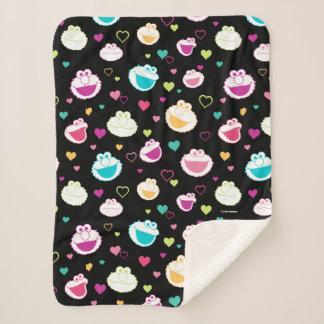 Sweet Stuff Heart Pattern Sherpa Blanket