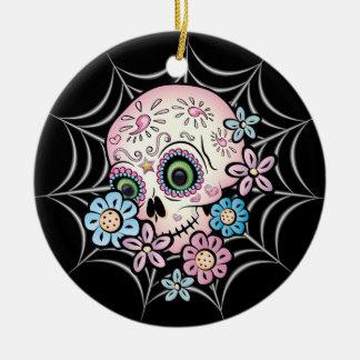 Sweet Sugar Skull Christmas Ornament