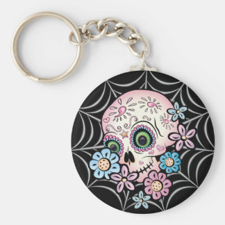 Sweet Sugar Skull Key Ring