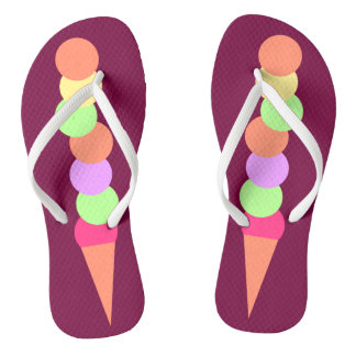 Sweet Summer Ice Cream Flip Flops