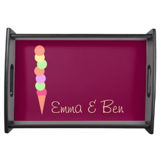 Sweet Summer Ice Cream Serving Tray