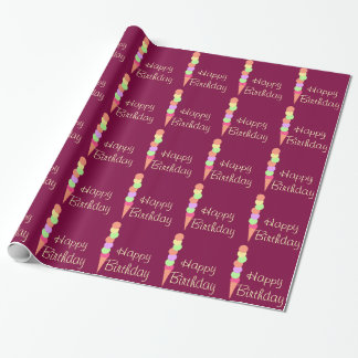 Sweet Summer Ice Cream Wrapping Paper